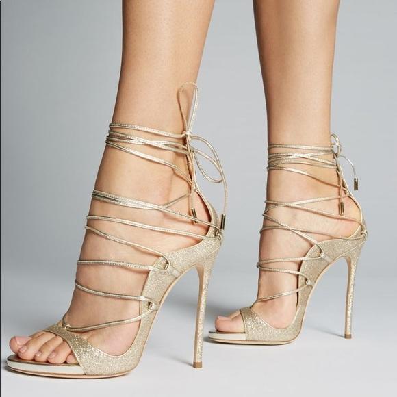 78ad01603b DSQUARED Shoes   2 Riri Oro Glitter High Heel Sandal Sz 36   Poshmark